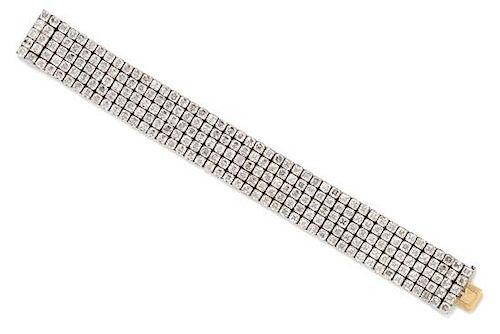 A Platinum and Diamond Bracelet, 44.80 dwts.