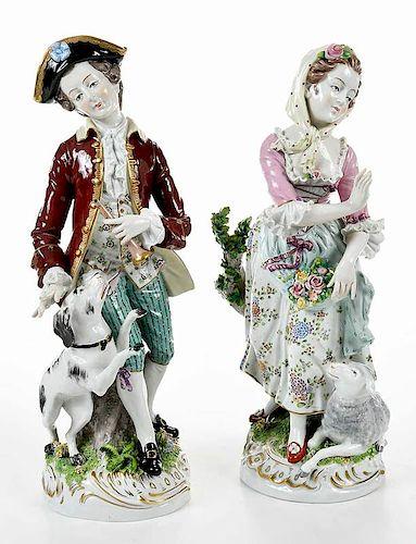Pair Sitzendorf Porcelain Figures by Brunk Auctions - 1376383