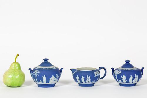 Three PCs, Wedgwood Blue Jasper Dip Teaware