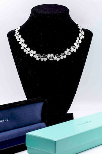 Tiffany & Co Flowers 8.56tcw Diamond Cluster Necklace