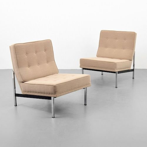 "Pair of Florence Knoll ""Parallel Bar"" Lounge Chairs"