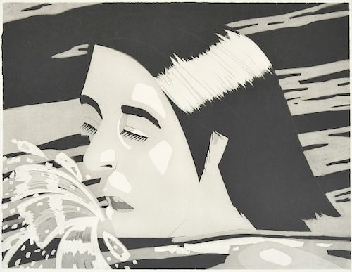 """Alex Katz """"The Swimmer"""" Etching, Signed Edition"""