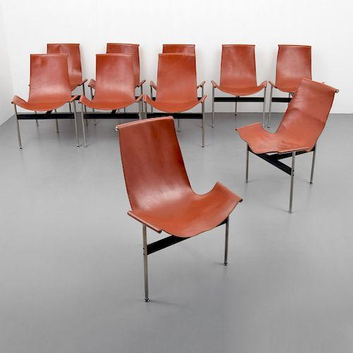 """Set of 10 Katavolos, Littell & Kelley """"T"""" Chairs"""