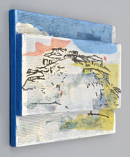 Judy Rifka Mixed Media 3D Relief Painting
