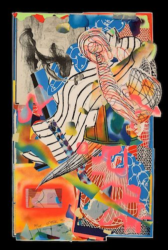 Frank Stella Lithograph/Screenprint/Collage, Signed Ed.