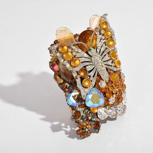 Monumental Wendy Gell Butterfly Cuff Bracelet