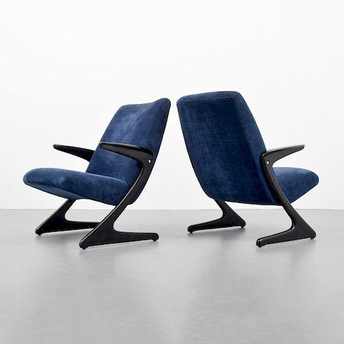 Pair of Bengt Ruda Lounge Chairs