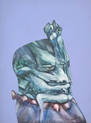 Fernando Luis Dominguez Abstract Figural Painting