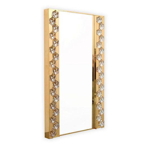 Illuminated Mirror, Manner of J. & L. Lobmeyr