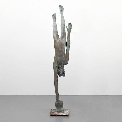 Large Victor Salmones Male Nude Figural Sculpture