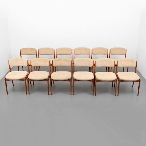 Set of 12 Dining Chairs, Manner of  Erik Buch