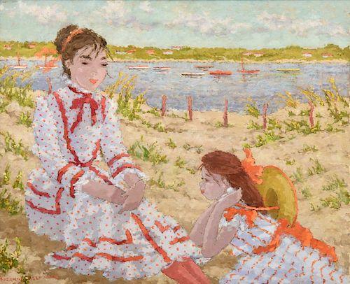 Suzanne Eisendieck Painting, Beach Scene