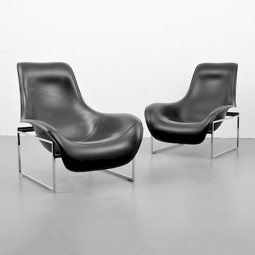 "Pair of Antonio Citterio ""Mart"" Lounge Chairs"