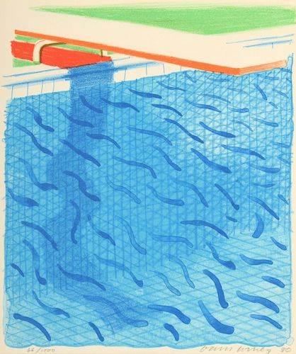 "David Hockney ""Paper Pools"" Lithograph, Signed Ed."