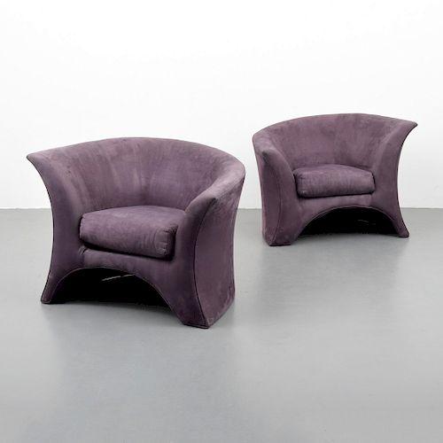 Pair of Lounge Chairs Attributed to Vladimir Kagan