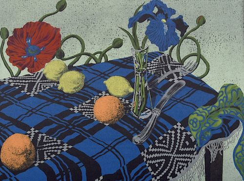 """Jack Beal """"Still Life"""" Lithograph, Signed Edition"""
