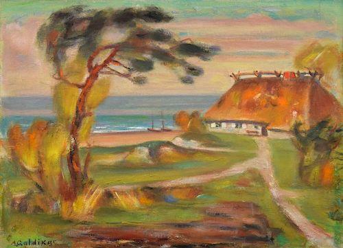 Adomas Galdikas Landscape Painting