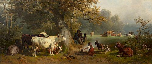 Friedrich Johann Voltz,Herder & cows resting