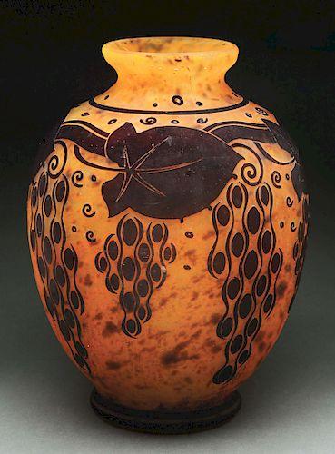 Daum Art Deco Vase.