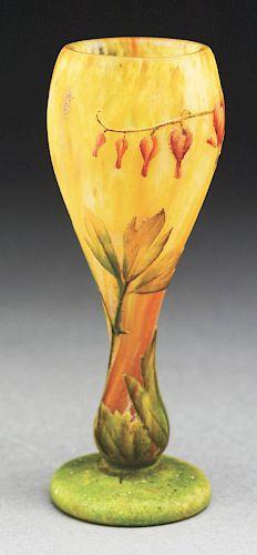 Daum Cameo and Enameled Vase.