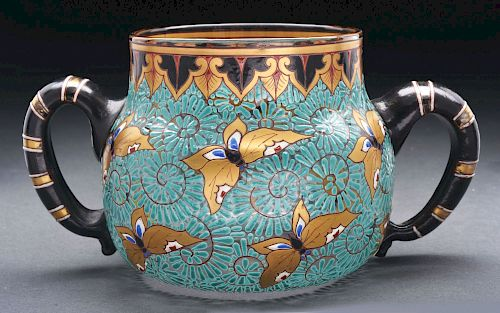 Galle Enameled Bowl.