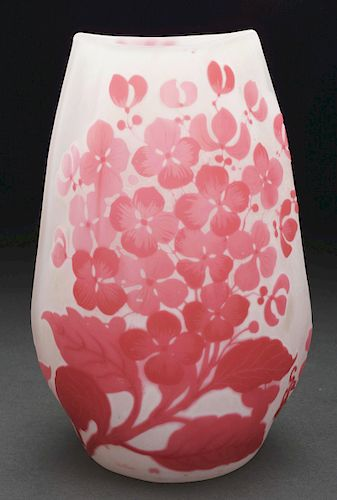 Galle Cameo Floral Vase.