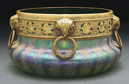 Bohemian Art Glass Bowl.