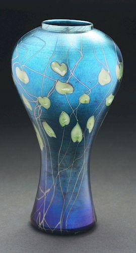 Tiffany Favrile Leaf and Vine Vase.