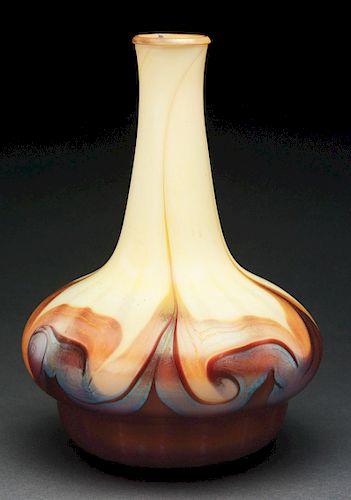 Tiffany Decorated Vase.