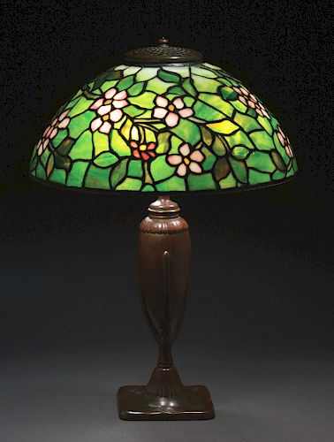 Tiffany Studios Apple Blossom Table Lamp.