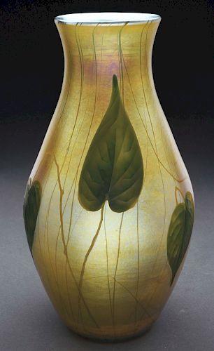 Tiffany Favrile Intaglio Carved Vase.