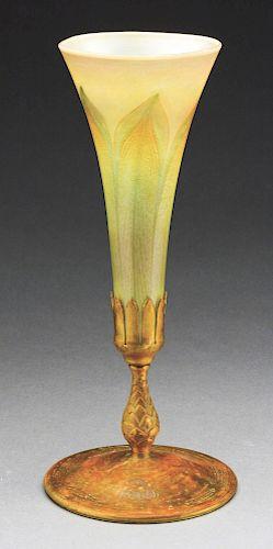 Tiffany Favrile Trumpet Vase.