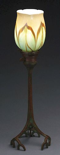 Tiffany Studios Root Candle Lamp.