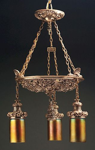Caldwell Silvered Bacchus Chandelier.
