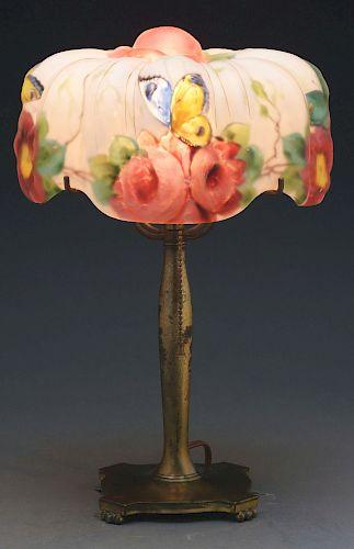 Pairpoint Puffy Papillion Boudoir Lamp.