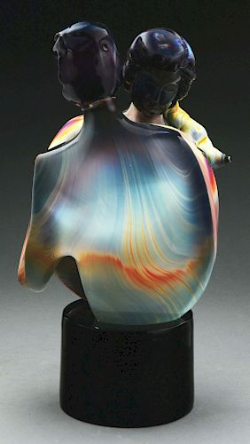 Magnificent Murano Glass Sculpture of Man and Woman.