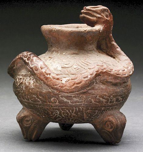 Very Early Snake Pottery Vase.
