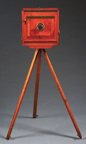 Early Box Camera with Tripod.