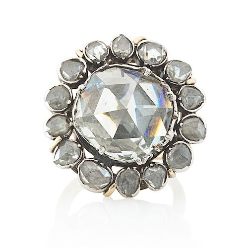 GEORGIAN ROSE-CUT DIAMOND BUTTON RING