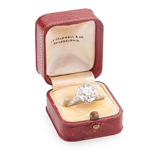 4.89 CTS. DIAMOND ART DECO ENGAGEMENT RING