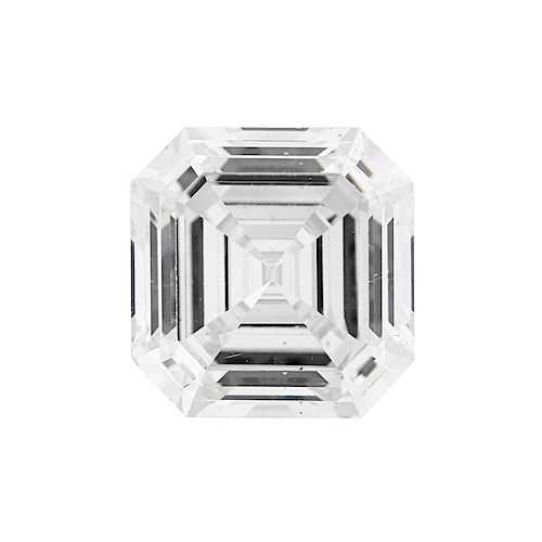 UNMOUNTED 5.12 CTS. SQUARE STEP-CUT DIAMOND