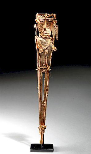 Impressive Muisca Gold Nude Tunjo Figure - 23.1 g