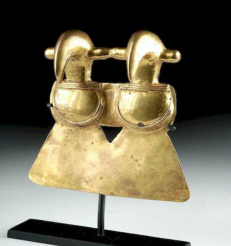 Huge Panamanian Gold Double Bird Pendant - 166 g, TL
