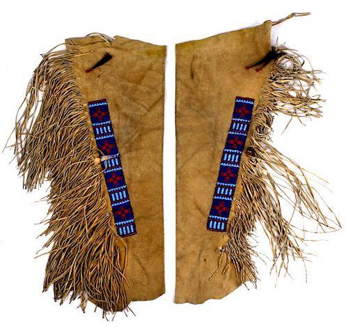 Blackfoot Beaded & Fringed Men's Leggings