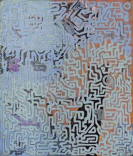 """KOOL KOOR. 1987 Acrylic on Canvas. """"Futuristic"""