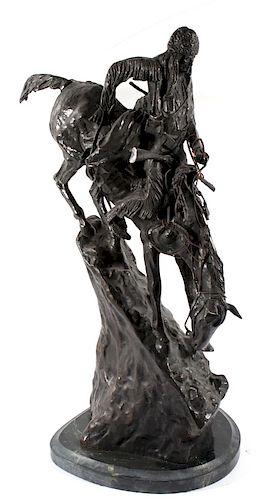 """Frederic Remington Bronze """"Mountain Man"""""""
