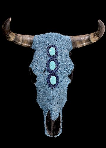 Turquoise Covered Steer Cow Skull