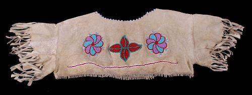 Blackfoot Beaded Dance Yoke c. 1890-1900's
