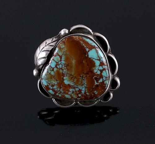 Navajo Royston Turquoise Silver Ring