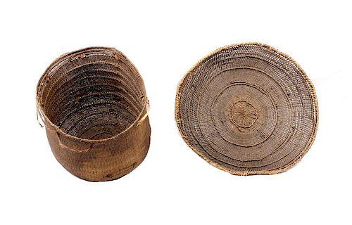 Pair of Yanowamo Indian Hand Woven Baskets